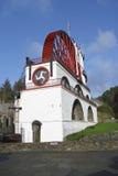 большое колесо человека laxey острова Стоковое Изображение