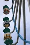 Большое колесо Ferris - красочные кабины стоковое фото rf
