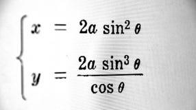 Большое количество математических формул на белой предпосылке стоковые фотографии rf