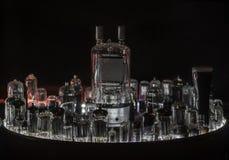 Большое количество различных трубок радио Стоковое Изображение RF