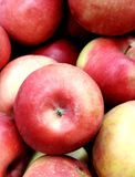Большое красное яблоко в центре стоковое изображение
