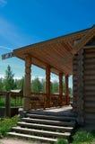 большое крылечко дома деревянное Стоковое Фото