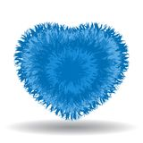 Большое мягкое голубое сердце Стоковые Фото