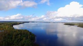 Большое озеро в лесе акции видеоматериалы