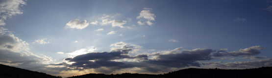 большое панорамное небо Стоковая Фотография RF