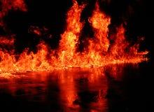 большое пламя Стоковая Фотография RF