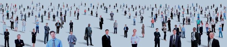 Большое полнометражное группы людей изолированное на белизне Стоковое Изображение