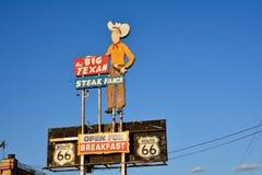 Большое ранчо стейка Texan, известный ресторан стейкхауса Стоковое Изображение RF