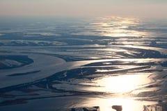Большое река во время потока весны Стоковая Фотография RF