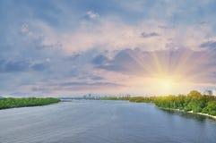 Большое река Стоковая Фотография