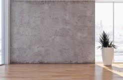 Большое роскошное современное яркое illus живущей комнаты квартиры интерьеров стоковая фотография rf