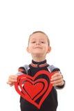 большое сердце мальчика Стоковое фото RF