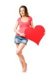большое сердце мое Стоковое Фото