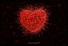 Большое сердце состоя из малых сердец имеющийся вектор valentines архива дня карточки Стоковое Фото
