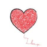 Большое сердце иллюстрация штока