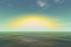 большое солнце зарева Стоковая Фотография
