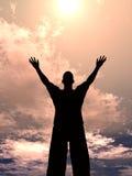 большое солнце размера человека Стоковые Изображения RF