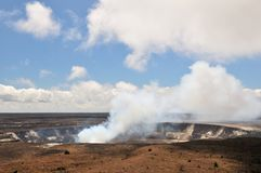 большое kilauea острова кратера Стоковое Изображение