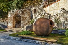 Большое kvevri, Georgia стоковые изображения