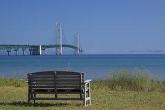 большое mackinac моста Стоковое фото RF