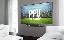 Большое pay per view телевидения экрана Иллюстрация вектора