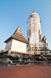 Большое Prang на виске Phutthaisawan Стоковая Фотография RF