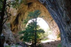 Большое Prerast, каньон Vratna стоковые фотографии rf