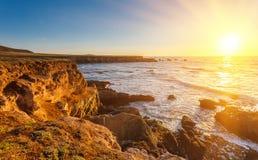 Большое Sur на заходе солнца Стоковое Фото