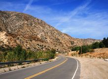 большое tujunga Canyon Road Стоковое Фото