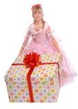 большое whith девушки подарка коробки Стоковые Фото