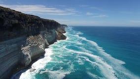 Большой австралийский Bight на краю равнины Nullarbor видеоматериал