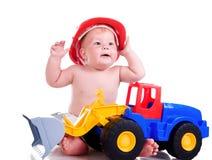 большой автомобиль мальчика немногая Стоковые Фото