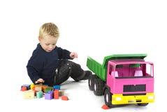 большой автомобиль мальчика Стоковые Изображения RF