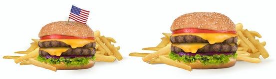 Большой американский Cheeseburger Стоковое фото RF
