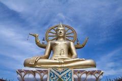 большой Будда золотистый Стоковая Фотография
