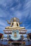 большой Будда золотистый Стоковая Фотография RF