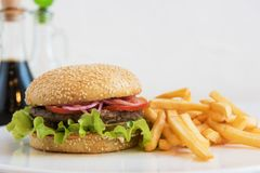 большой бургер вкусный Стоковое фото RF