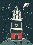 большой вектор космического корабля Стоковое фото RF