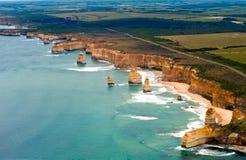 большой взгляд дороги океана вертолета Стоковое Изображение RF