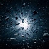 Большой взрыв челки в космосе бесплатная иллюстрация