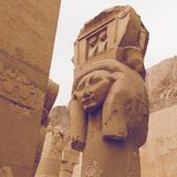 Большой висок Hatshepsut, Karnak, Луксор, Египет Стоковое фото RF