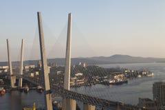 Большой висячий мост стоковое фото rf
