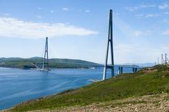 Большой висячий мост стоковое изображение rf