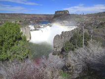 Большой водопад в западных Соединенных Штатах Стоковые Изображения