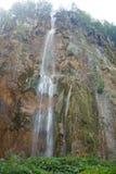 Большой водопад около озер Plitvice в Хорватии стоковая фотография