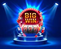 Большой выигрыш прорезает казино 777 знамен бесплатная иллюстрация