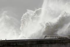 Большой выплеск волн Стоковая Фотография RF