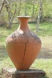 Большой глиняный горшок стоковое фото