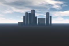 большой город иллюстрация вектора