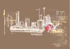 большой город Стоковая Фотография